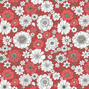 Camilla Retro Floral Christmas - large scale