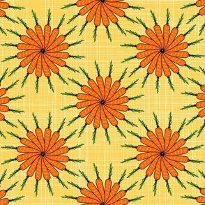 Floral Carrot Garden - Yellow