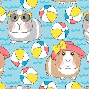 large guinea pigs and beach balls