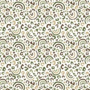 Fall Leopard Rainbow Khaki Brown - medium scale