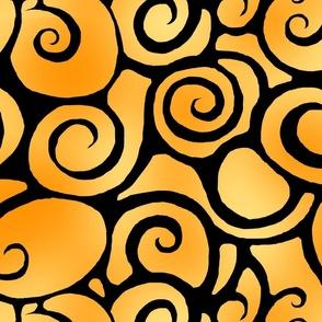 Peachy Swirls