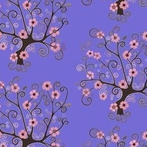 Spiral Sakura tree of life lemon yellow