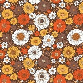 Camilla Retro Fall Floral - large scale