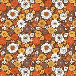 Camilla Retro Fall Floral - medium scale