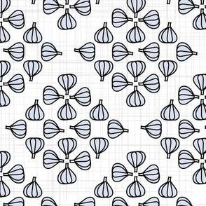 Garlic Garden Weave - White