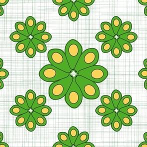 Avocado Flower Garden  - Green hatch marks