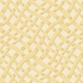 Random Weave, yellow on cream
