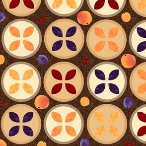 Stone Fruit Pies, Sepia