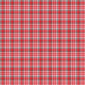 Red Veggie Tartan Plaid, small