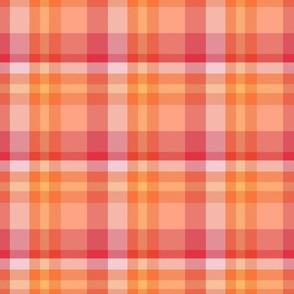 Peachy Tartan Plaid, large