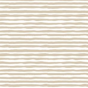 irregular horizontal stripes beige on white medium