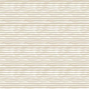 hand drawn horizontal stripes light brown on white small