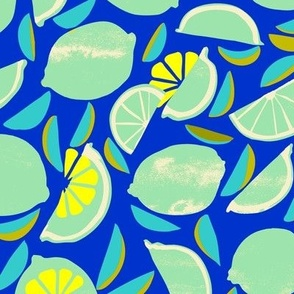 Blue lime and seeds