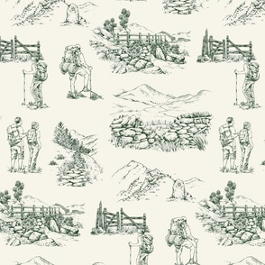 Hiking Toile de Juoy in Forest Green