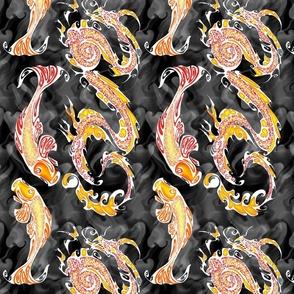 NIB Dragon and Koi - Red Dragon Adjustment (normal size) Dark