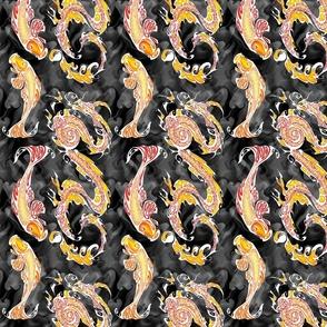 NIB Dragon and Koi - Red Dragon Adjustment (smallscale) Dark