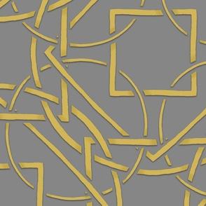 Interlocking Frames yellow and gray at 45 degrees
