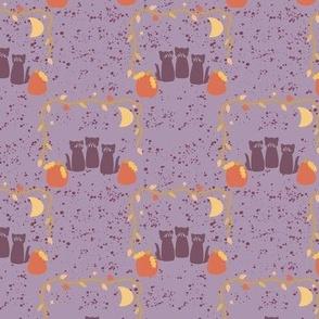 Spooky Season cat trio  purple-01