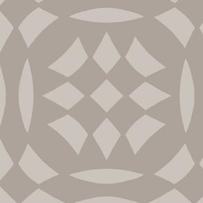 Circular Checkerboards in brown gray