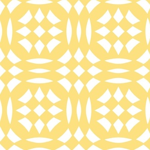 Circular Checkerboards in yellow and white at 50 percent