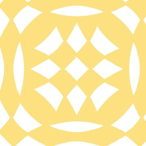 Circular Checkerboards in yellow and white