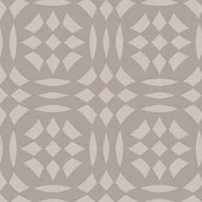Circular Checkerboards in brown gray at 50 percent