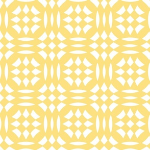 Circular Checkerboards in yellow and white at 33 percent