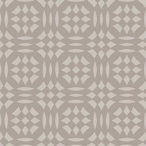 Circular Checkerboards in brown gray at 33 percent