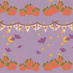 Spooky Season Bunting Rows purple