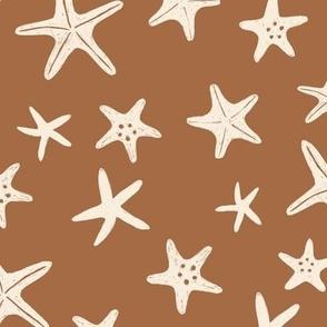starfish stars beach - Seaside medium tan