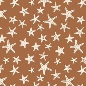 starfish stars -  Seaside beach small tan