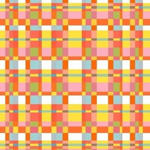 geometric summer vibes plaid // yellow