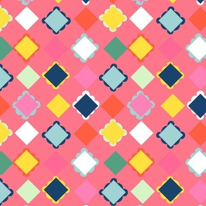 diamond picnic plaid // warm rose