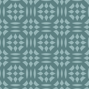 Circular Checkerboards in teals at 33 percent