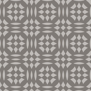 Circular Checkerboards in silver and gray at 33 percent