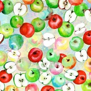 Fresh apples watercolor, fruits