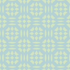 Circular Checkerboards in light blue and green at 33 percent
