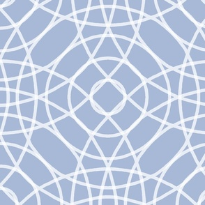 Concentric Circlerama in slate cornflower and white at 100 percent