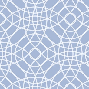 Concentric Circlerama in slate cornflower and white at 75 percent