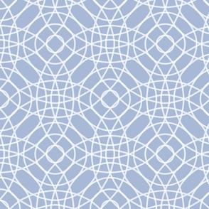 Concentric Circlerama in slate cornflower and white at 50 percent