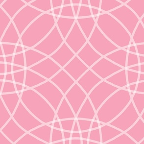 Concentric Circlerama in pink and white at 100 percent