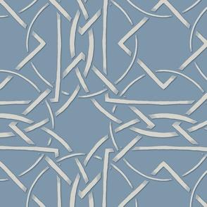 Interlocking Frames light blue and cream at 75 percent