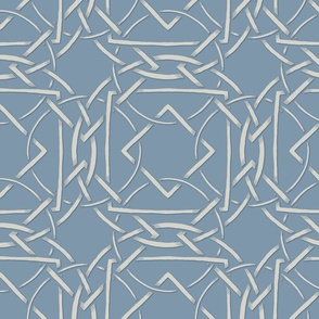 Interlocking Frames light blue and cream at 50 percent