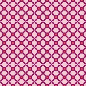 Radish Pink Trellis, small scale