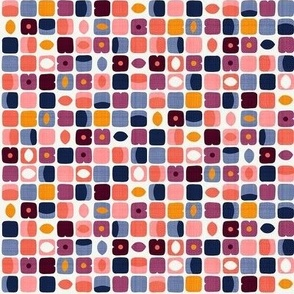 Retro Geo Stone Fruits / Tiny Scale