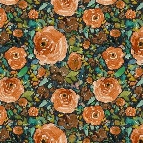 "4"" Copper Roses Dark Brown Back"