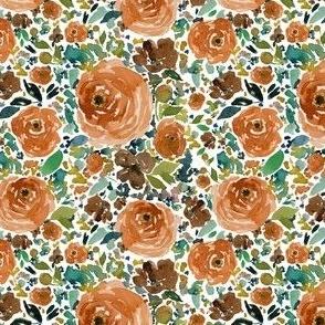 """4"""" Copper Roses White Back"""