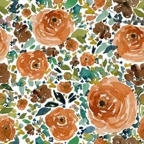 """8"""" Copper Roses White Back"""