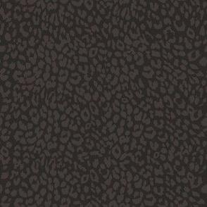 """6"""" Dark Brown Cheetah Print"""