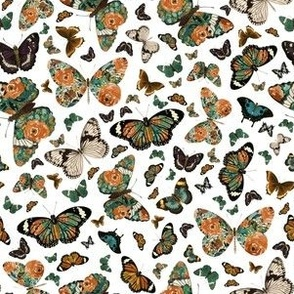 """6"""" Floral Butterflies White"""